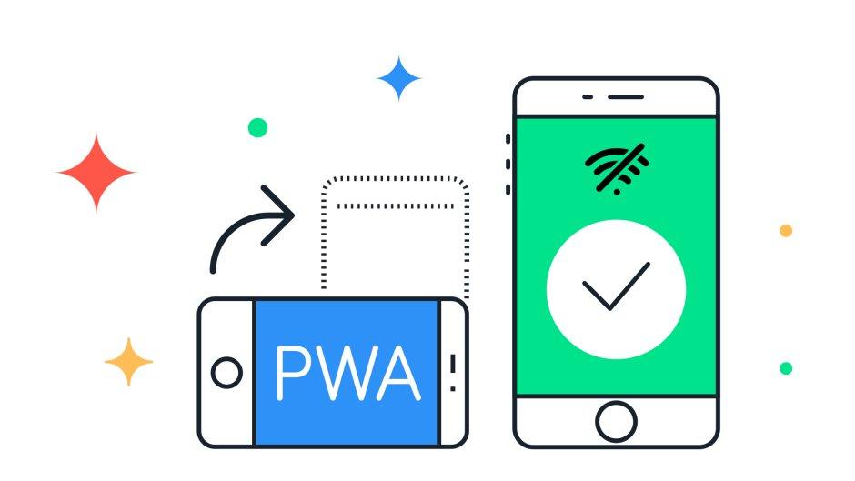 Aplicación web progressiva funcionando offline