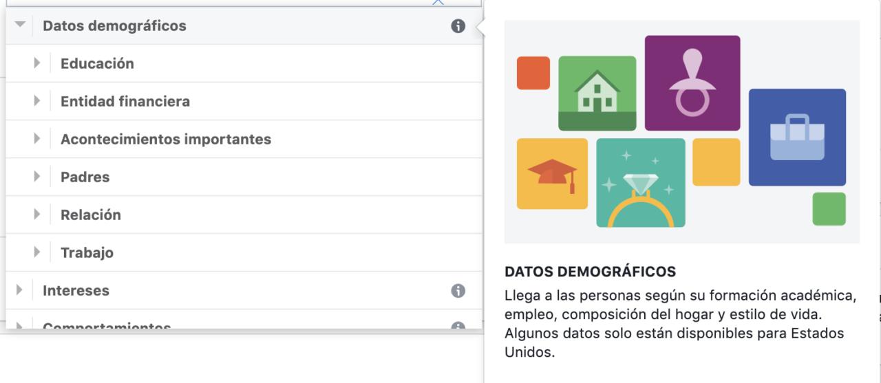 Descubre las opciones de segmentación de Facebook