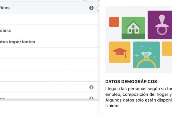 Segmentación de audiencia por datos demográficos Facebook